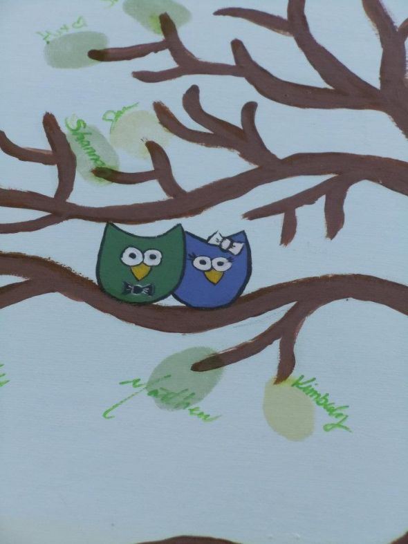 Owl Wedding Tree