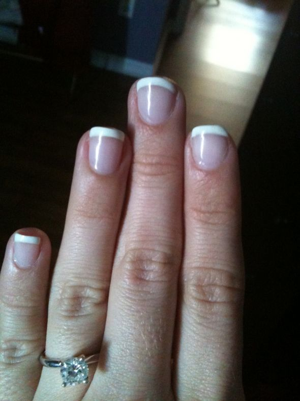 Shellac Nails : wedding gel manicure nails shellac uv gel Nails