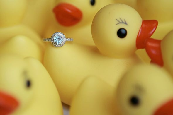 I 39m a one ring kinda girl Blue Diamond Wedding Bands wedding IMG 0758