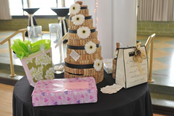 Wine Cork Cork Cake Card Box :  wedding reception Cork Cake
