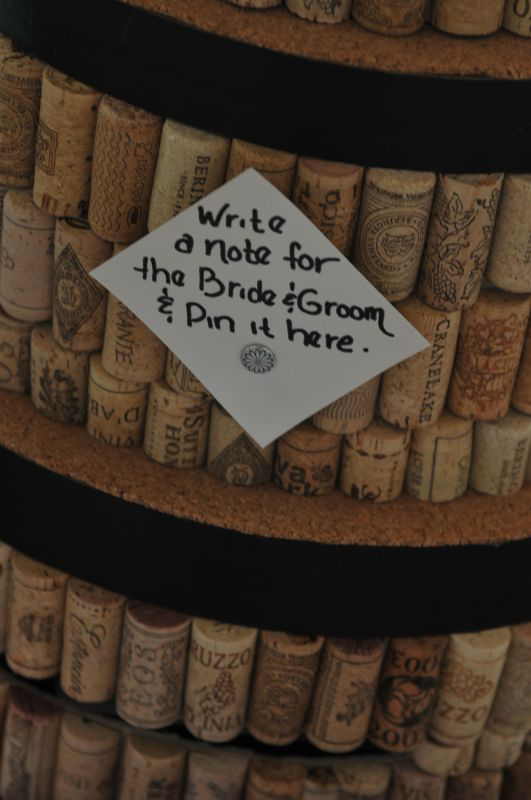 Wine Cork Cork Cake Card Box :  wedding reception Cork Cake Closeup