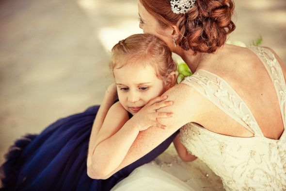 Flower Girls :  wedding blue dress flower girls flowers green navy navy dress white 7742462580 De9af40d2f K