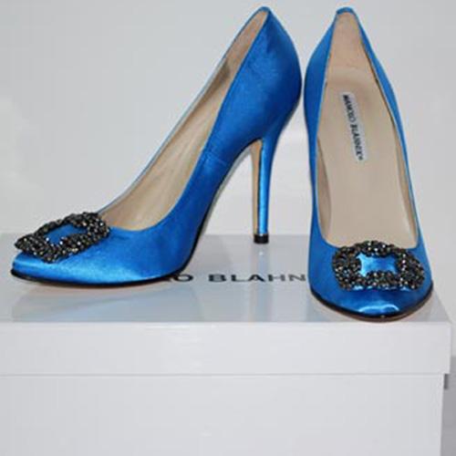 imitation manolo blahnik something blue shoes
