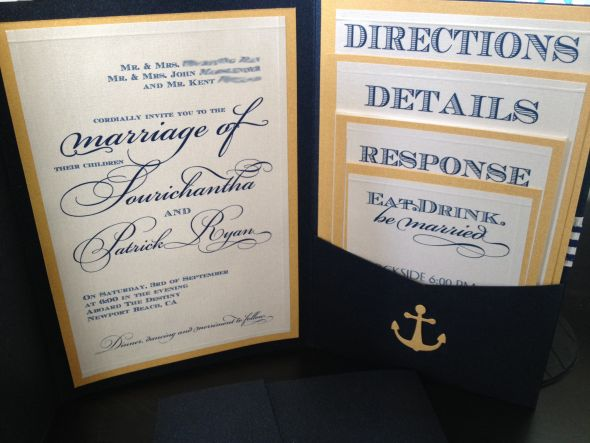 Nautical Wedding Invitations Photo Album Wedding Goods – Nautical Wedding Invite
