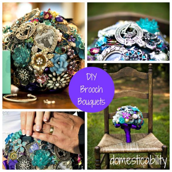 DIY Brooch Bouquets