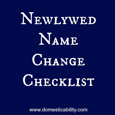 Name Change Checklist