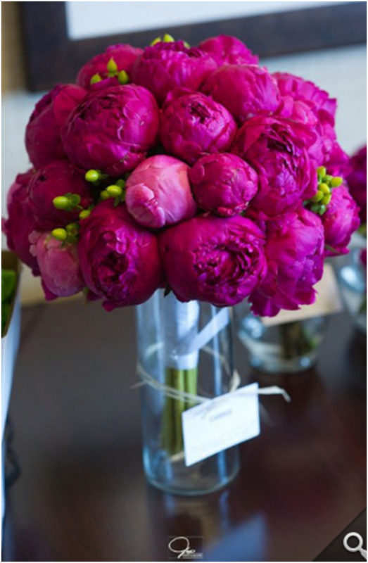 Peonies! :  wedding bouquet flowers fuschia peony Peony Bridal Bouquet