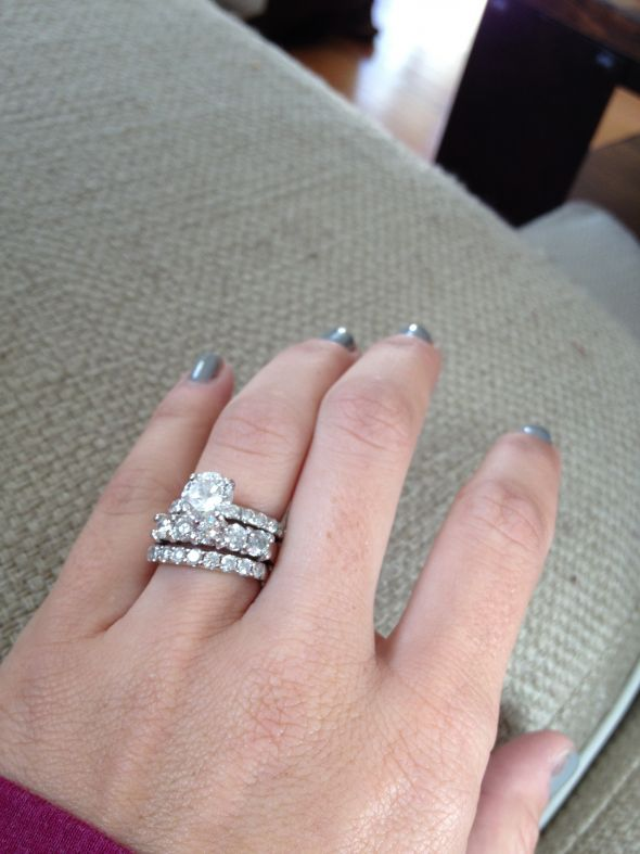 First anniversary band my hubby is too good to me