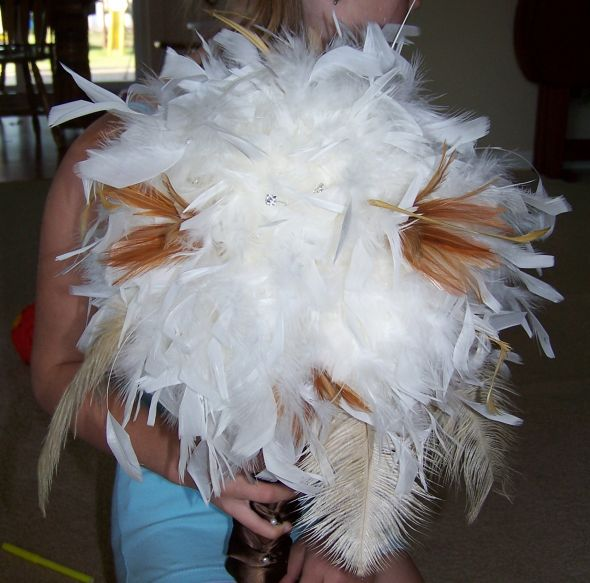 What can you do with a paper towel roll and a feather boa?! (Tutorial included)