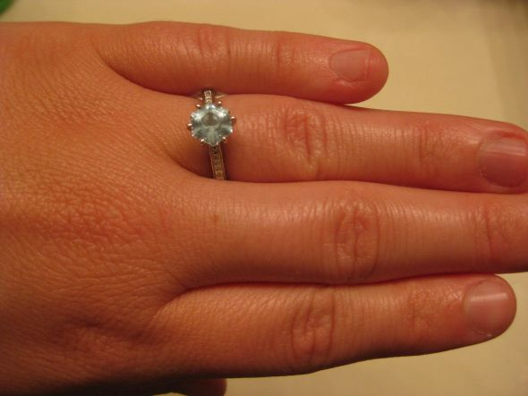 My Snowflake Aqua wedding aquamarine snowflake e ring engagement 036