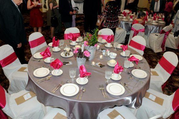 Jodi Lynns Blog Fuschia Wedding Cloth Tablecloths Back Of Funky