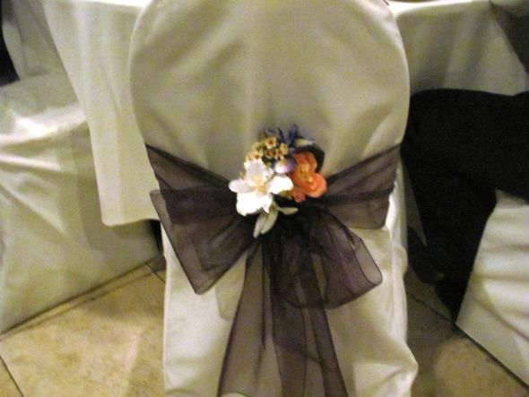 ivory chair covers and or eggplant sashes wedding ivory chair cover