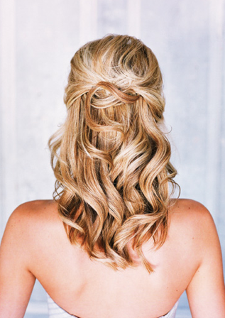 My Hair Trial :  wedding big curls diy hair half up 1 inspiration long hair Hair Like This In The Top Back