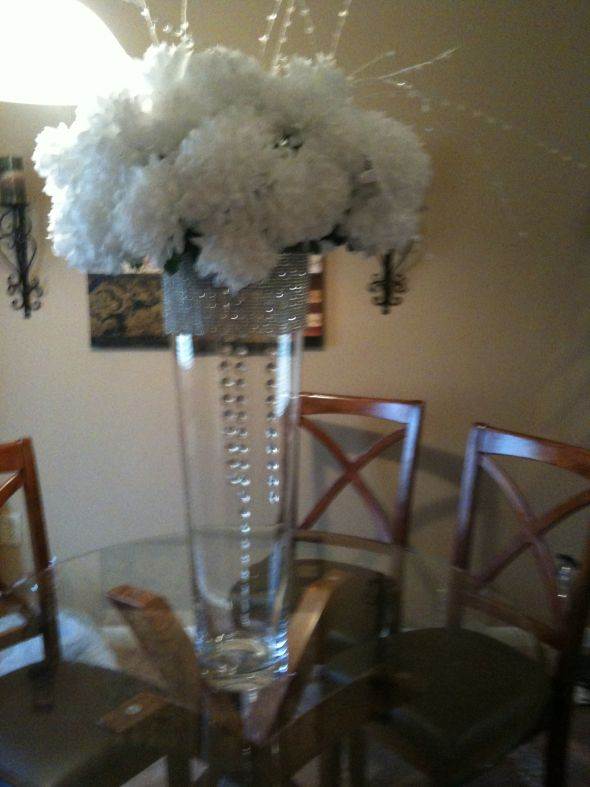 centerpiece for buffet table wedding white flowers diy reception Photo5
