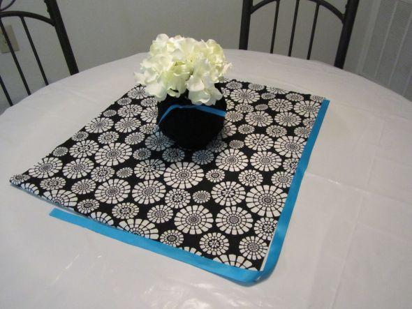 DIY Hydrangea Centerpiece wedding black blue white diy reception IMG 0261