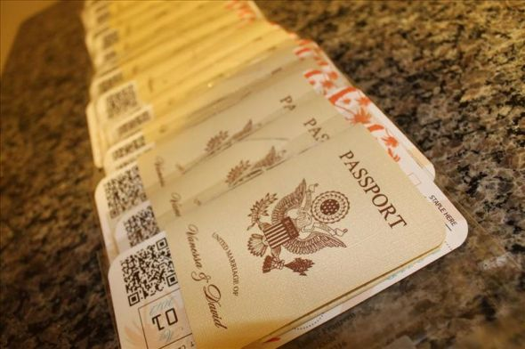 Vanessa's DIY Passport Destination Wedding Invitations (PIC HEAVY)