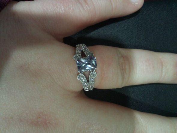 It 39s a light blue ceylon sapphire with a diamond band Sapphire Erings