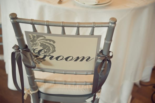 Damask Groom 39s Chair Sign wedding Pb Details 040