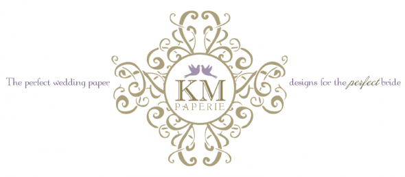 Beautiful Wedding Invitations wedding KM Kmp Logo