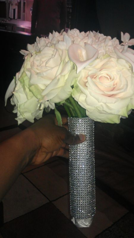 My blinged out bouquet