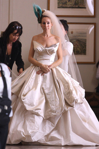 charlotts wedding dress sex city