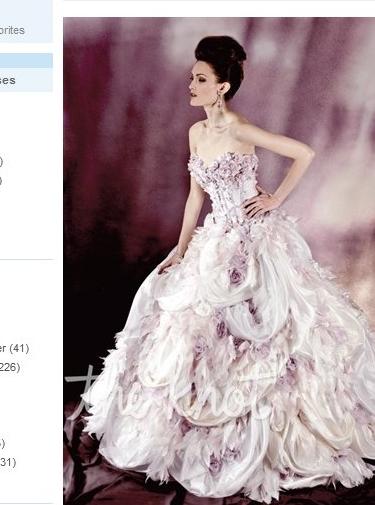 Ysa Makino purple accent eccentric wedding gown