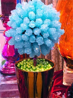My take on candy buffet centerpieces genius or what wedding Rockcandy
