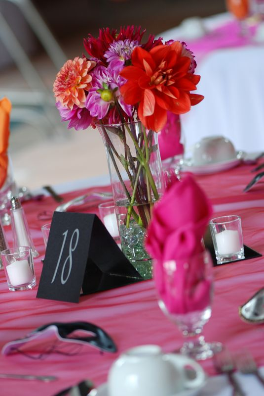 Wedding Centerpieces Photos wedding orange pink Centerpieces