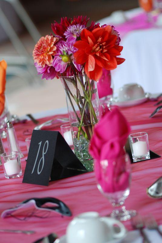 Wedding Centerpieces Photos wedding orange pink Centerpieces