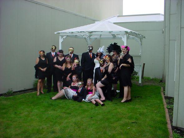 Sneak Peek at our Masquerade Ball Wedding Party