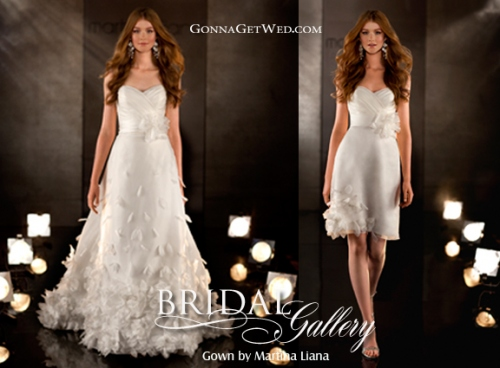 Two-In-One Wedding Dresses :  wedding bridesmaids inspiration ceremony dress reception Convertible Dress Bridal Gallery2