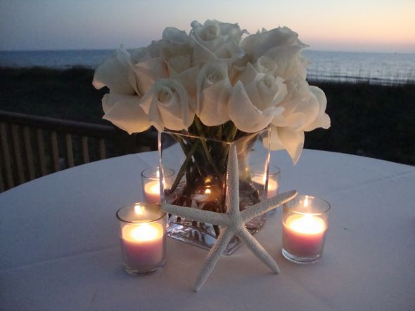 Beachside centerpiece i made weddingbee photo gallery