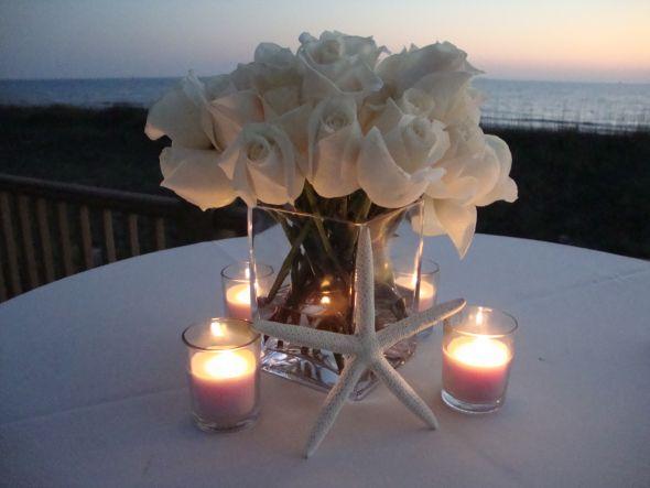 Diy Beach Wedding Centerpiece Ideas : Beachside centerpiece i made weddingbee photo gallery