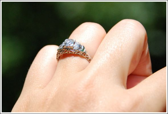 My Antique Engagement Ring