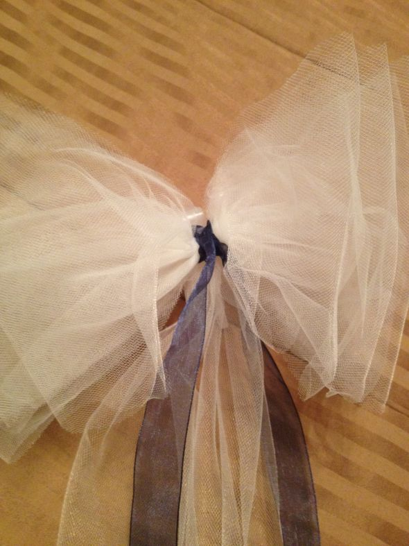 Ivory Pew Bows FOR SALE REDUCED PRICE wedding pew bows tulle cheap white