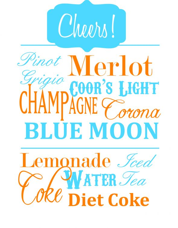 Rehearsal dinner drink menu sign wedding drink menu drink sign rehearsal