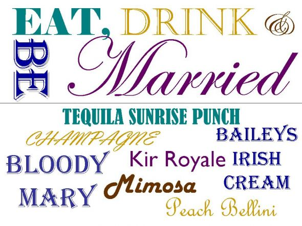 Just made this preliminary bar sign for our wedding 6 9 12