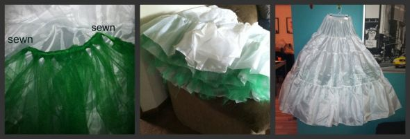 No dye, colored crinoline