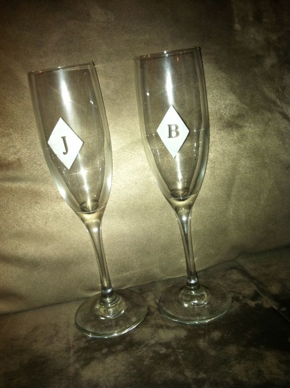 DIY monogram glasses