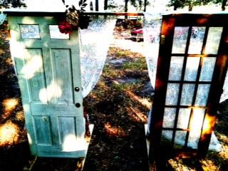 DIY Wedding ARCH Antique Doors For An Outdoor Rustic PICS