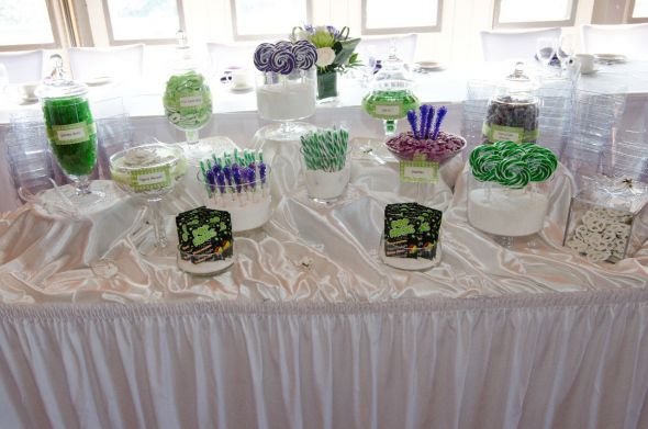 Purple and Green Candy :  wedding canada candy buffet cupcakes green ontario outdoor purple september toronto white Touched Up Negative 361
