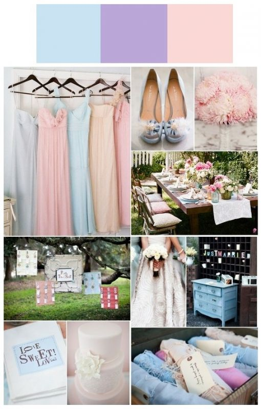Wedding Colors Yes or No wedding blue purple pink blush lilac lavender