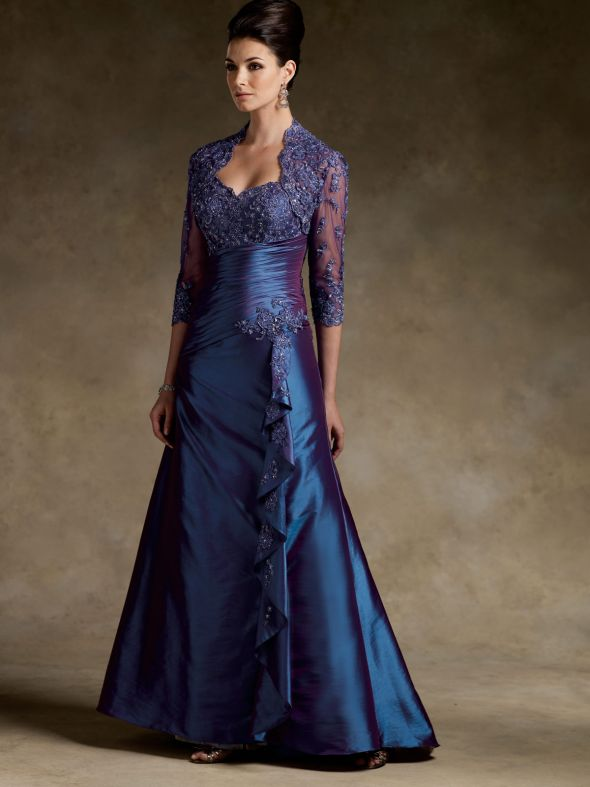 NEW Rina di Montella Mother of the Bride/Groom Dress :  wedding teal blue navy purple dress Dress