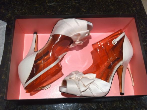 A pair of brand new Nina Electra wedding shoes in Ivory size 75