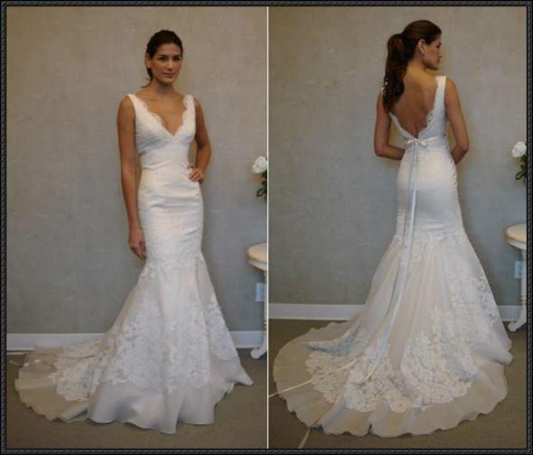 Wedding dresses low cut wedding dresses for Low cut back wedding dress