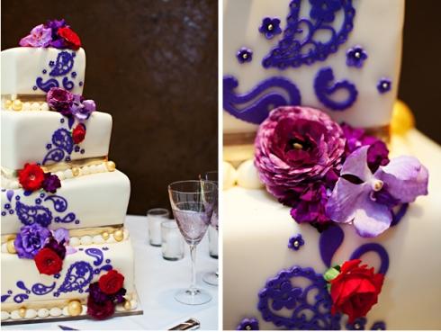 Show us your Wedding Cakes wedding cake Persian Paisley Wedding Cake Red