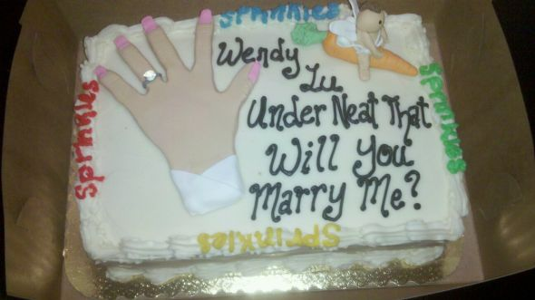 Pin Will You Marry Me Proposal Cake Topper On Pinterest