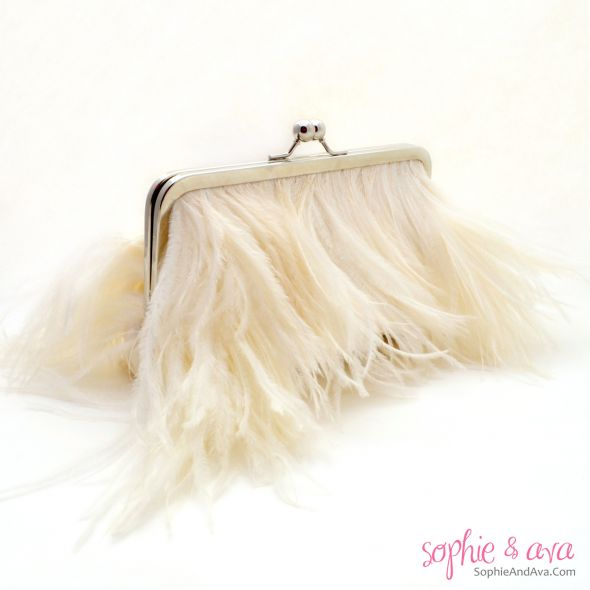 Ostrich Feather Clutches