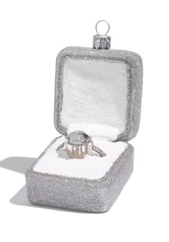 cutest christmas ornament ever - Christmas Ornament Ring Box