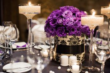 I need items for my Ivory and Black Damask and purple Wedding Please ...